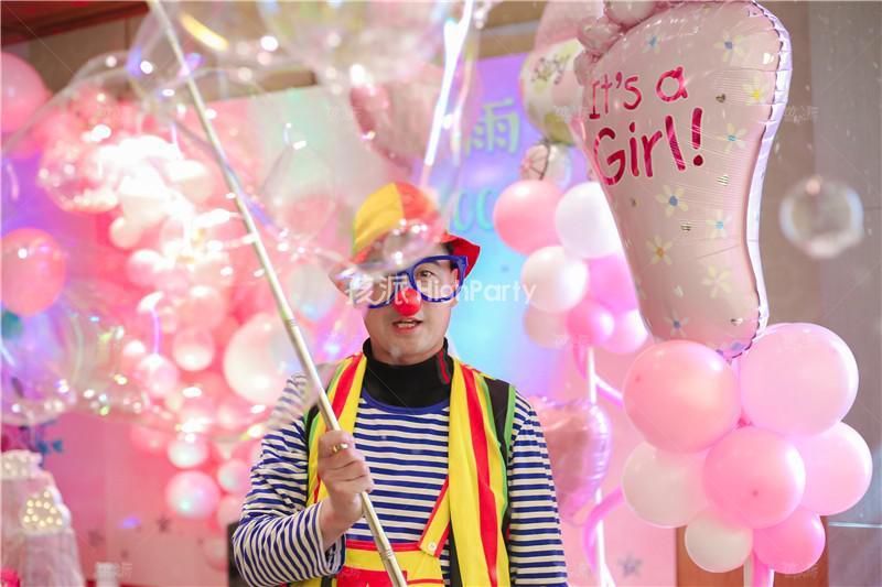 粉色系百天宴会