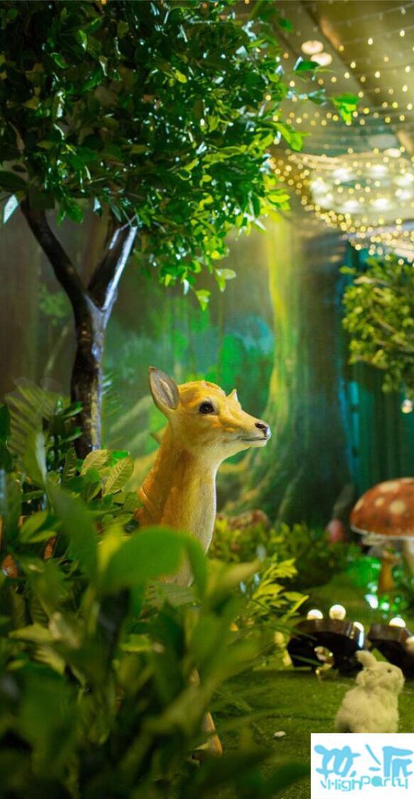 森林奇幻主题百日宴