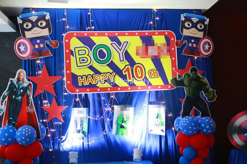 复仇者联盟主题--10岁生日派对策划