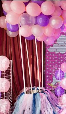 浪漫紫色唯美公主系满月宴策划