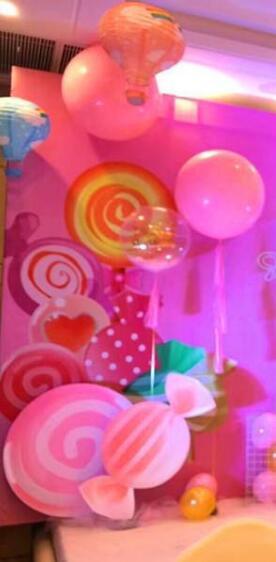 粉金色系公主棒棒糖主题生日策划