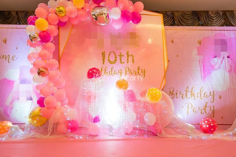 唯美粉色系---十岁生日派对策划