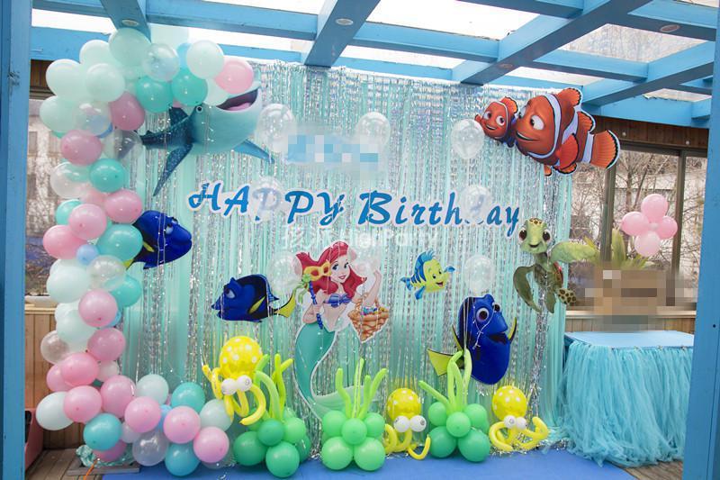 早春里的美人鱼主题生日派对
