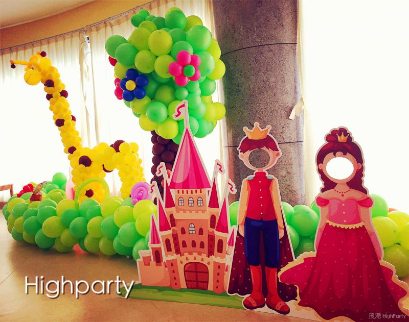 惠州公主与王子的神秘童话森林生日之旅儿童派对,童话般的派对现场布置,萌萌哒小黄人系列儿童生日派对用品,小丑杂耍、巧打皮纳塔等精彩有趣的互动游戏,切生日蛋糕祝小朋友生日快乐